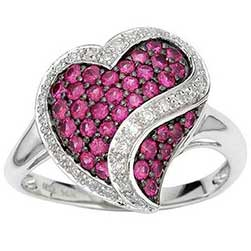 Ring set with Rubies & Diamonds