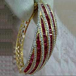 Rubies & Diamonds Designers Openable Bangle