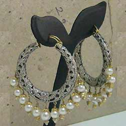 Diamond and Pearls Earings