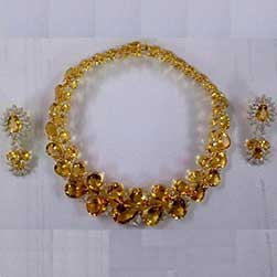 Citrines & Diamond Necklace